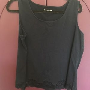 2 Tank Tops with Lace Trim